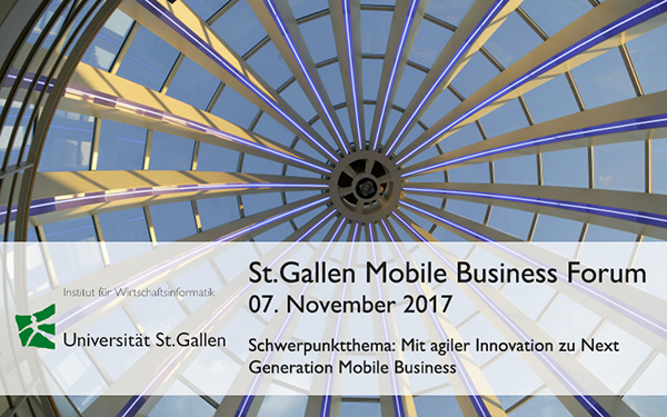 Save the Date: St.Gallen Mobile Business Forum am 07.11.2017