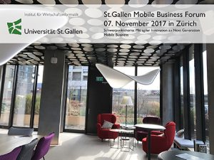 6. St.Gallen Mobile Business Forum am 7. Nov. in Zürich