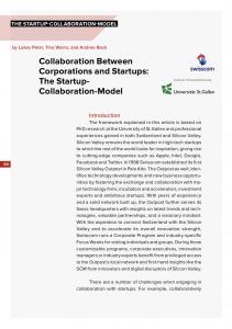 """Unser Beitrag """"The Startup Collaboration Model"""" im Buch Ecosystem Innovation von Kickstart"""